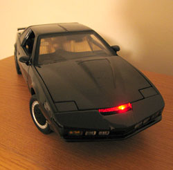 KITT on the shelf, scanning away