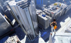Mirror's Edge: Faith overlooks the flow of the city