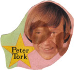 Peter Tork stained by root beer