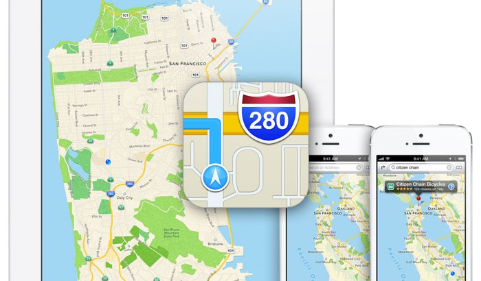 iOS 6's new maps from Apple