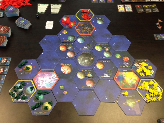 The state of the galaxy at the conclusion of round 1.