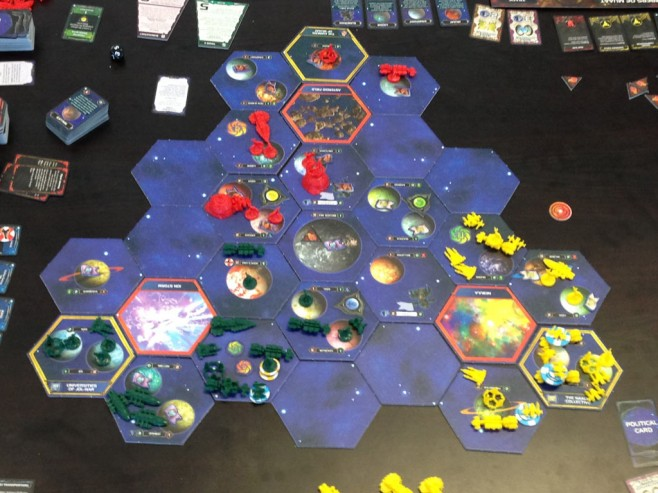 The state of the galaxy at the conclusion of round 3.