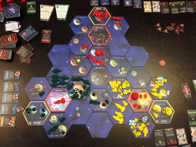 The state of the galaxy at the conclusion of round 5.