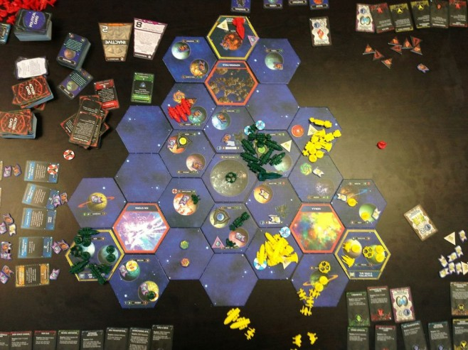 The state of the galaxy at the conclusion of round 8.